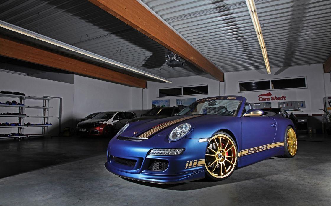 2014 Cam-Shaft Porsche 997 Carrera Cabrio Germany Convertible Spyder Car Vehicle Tunning Wheel Sport Supercar Sportcar Blue Supersport 4000x2500 (9) wallpaper