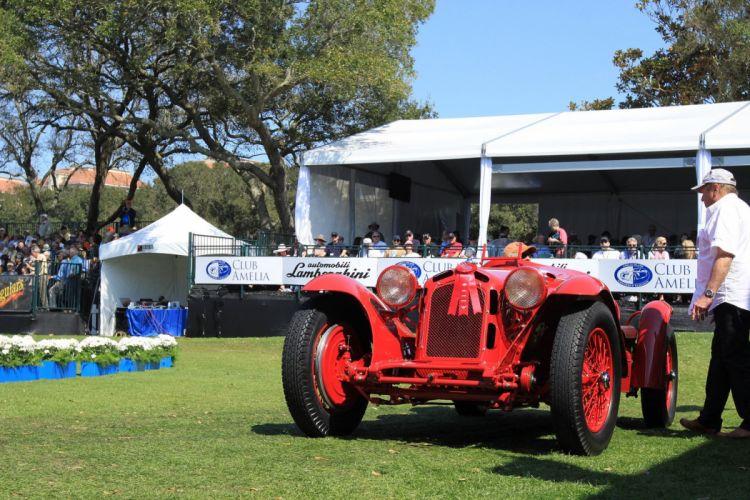 1933 Alfa-Romeo 2300 Monza Italy Car Vehicle Classic Retro Sport Supercar Red (7) wallpaper