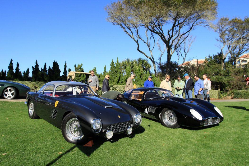 1957 Ferrari 250-GT LWB Zagato Berlinetta Car Vehicle Classic Retro Sport Supercar italy (2) wallpaper