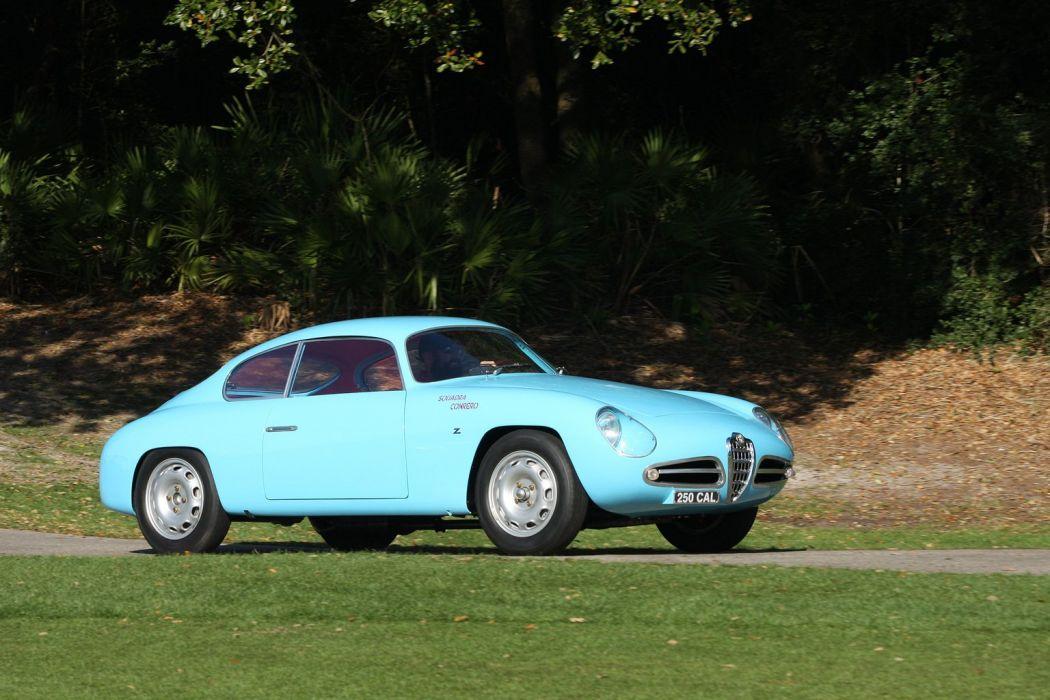 1958 Alfa-Romeo Giulietta SVZ Car Vehicle Classic Retro Sport Supercar italy (3) wallpaper