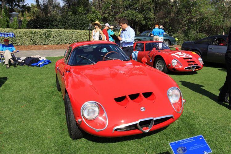 1965 Alfa-Romeo TZ2 Engine Car Vehicle Classic Retro Sport Supercar Italy Red (3) wallpaper