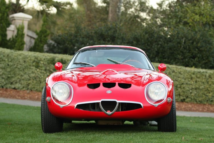 1965 Alfa-Romeo TZ2 Engine Car Vehicle Classic Retro Sport Supercar Italy Red (5) wallpaper