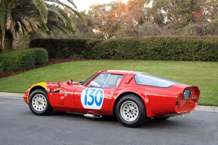 1965 Alfa-Romeo TZ2 Engine Car Vehicle Classic Retro Sport Supercar Italy Red wallpaper