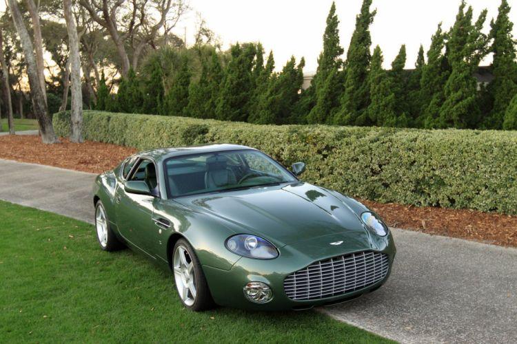 2003 Aston-Martin DB7 Vantage Zagato Coupe Car Vehicle Classic Retro Sport Supercar (2) wallpaper