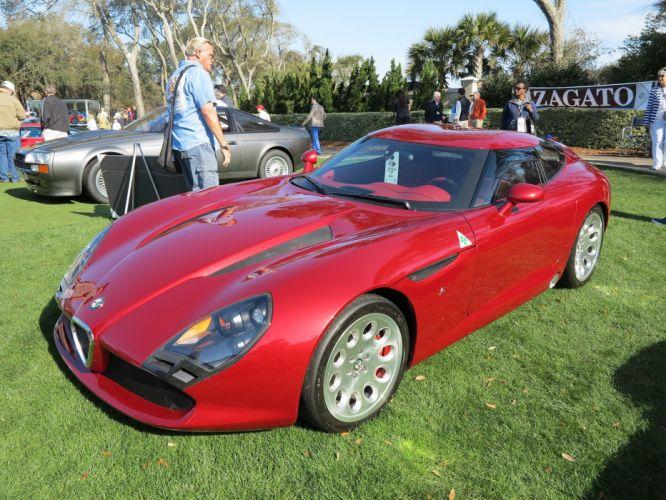 2011 Alfa-Romeo TZ3 Stradale Car Vehicle Classic Concept Sport Supercar Italy Red (3) wallpaper