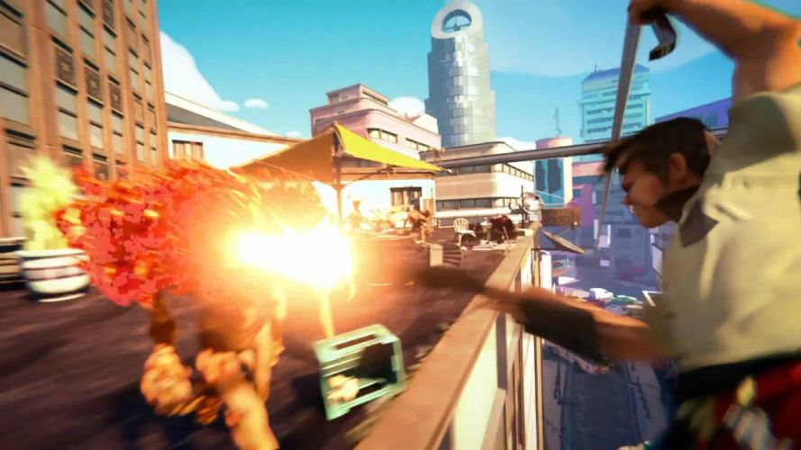 SUNSET OVERDRIVE action shooter sci-fi rpg (5) wallpaper