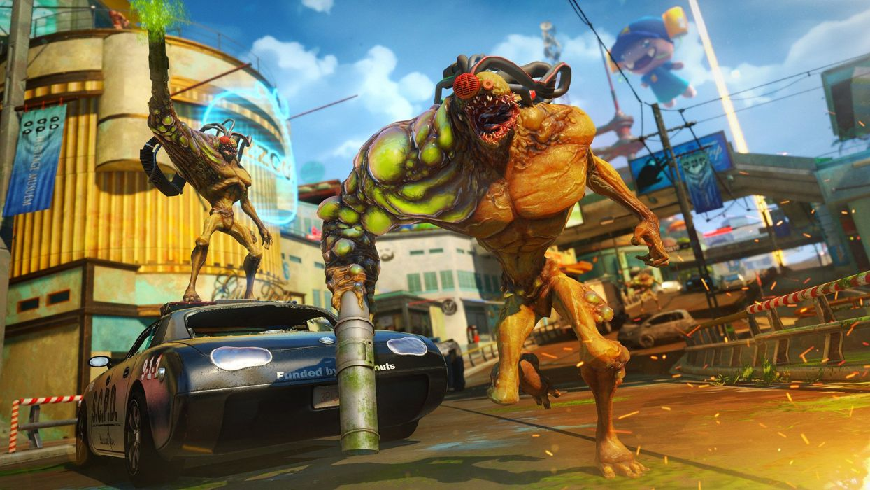 SUNSET OVERDRIVE action shooter sci-fi rpg (3) wallpaper
