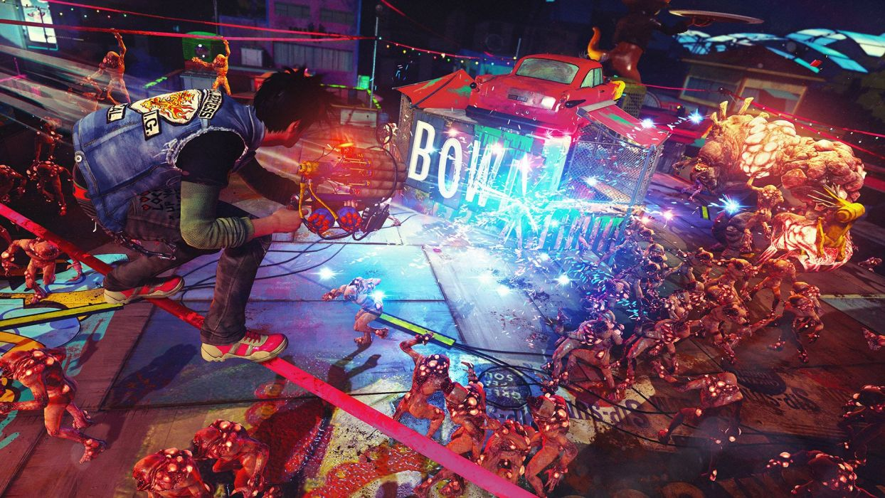 SUNSET OVERDRIVE action shooter sci-fi rpg (20) wallpaper