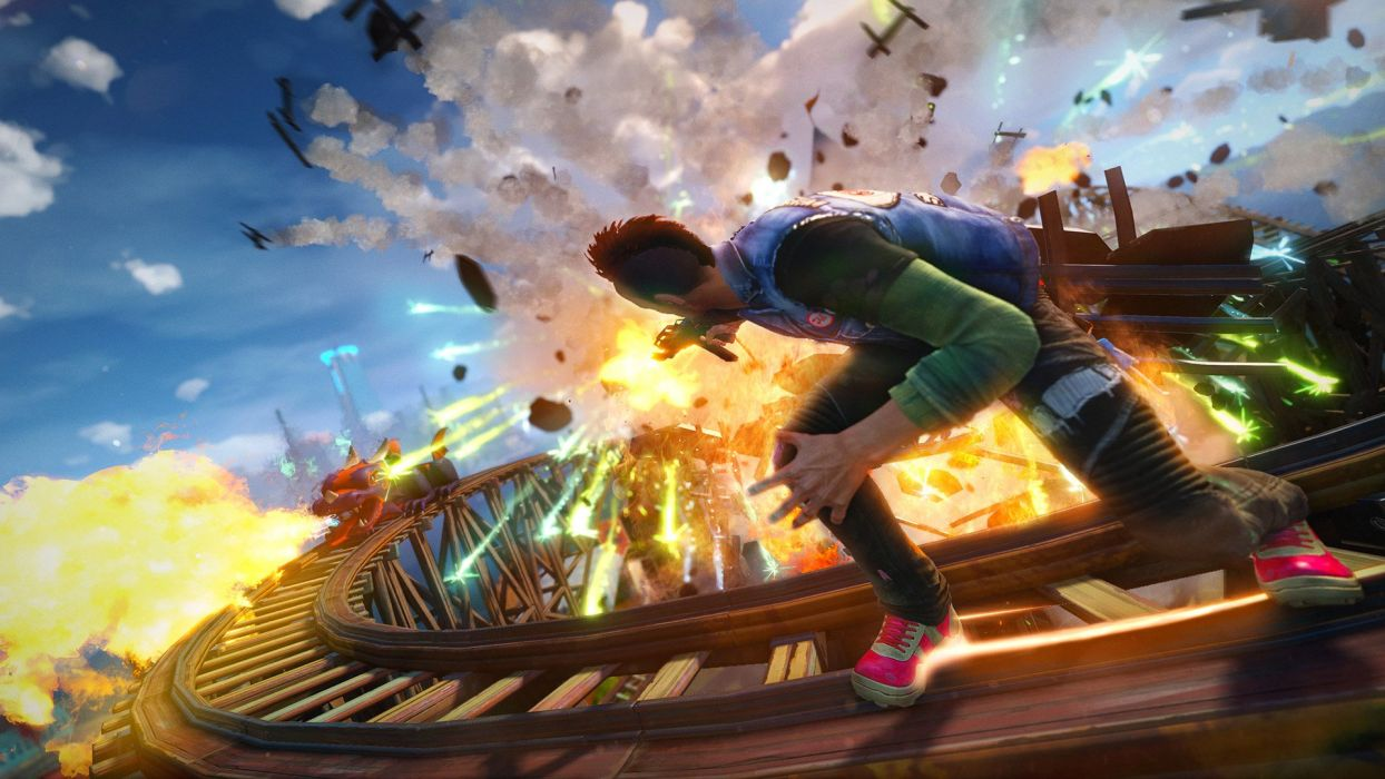 SUNSET OVERDRIVE action shooter sci-fi rpg (30) wallpaper