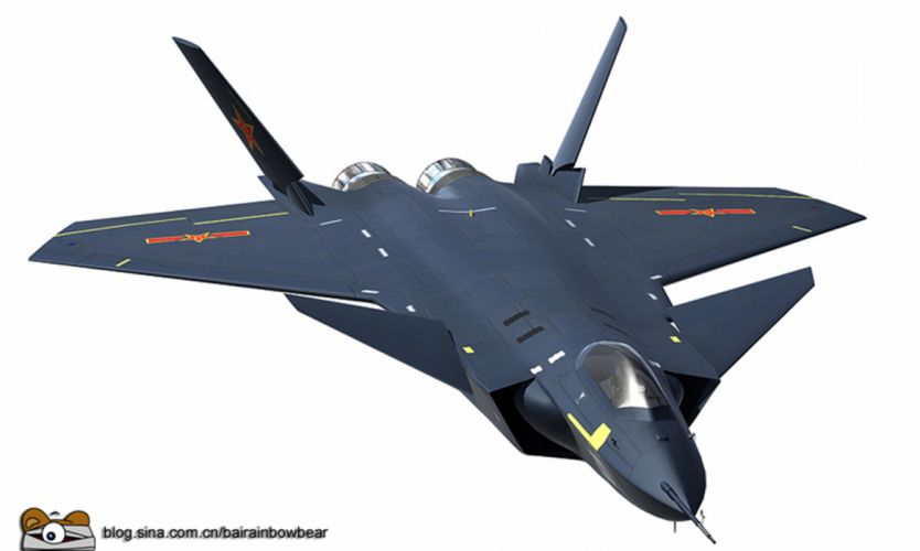 Chinese J-20 Mighty Dragon Fifth Generation Stealth Fighter Aircraft Chengdu Vehicle Military Chinese People's Liberation Army Air Force (PLAAF) (2) wallpaper