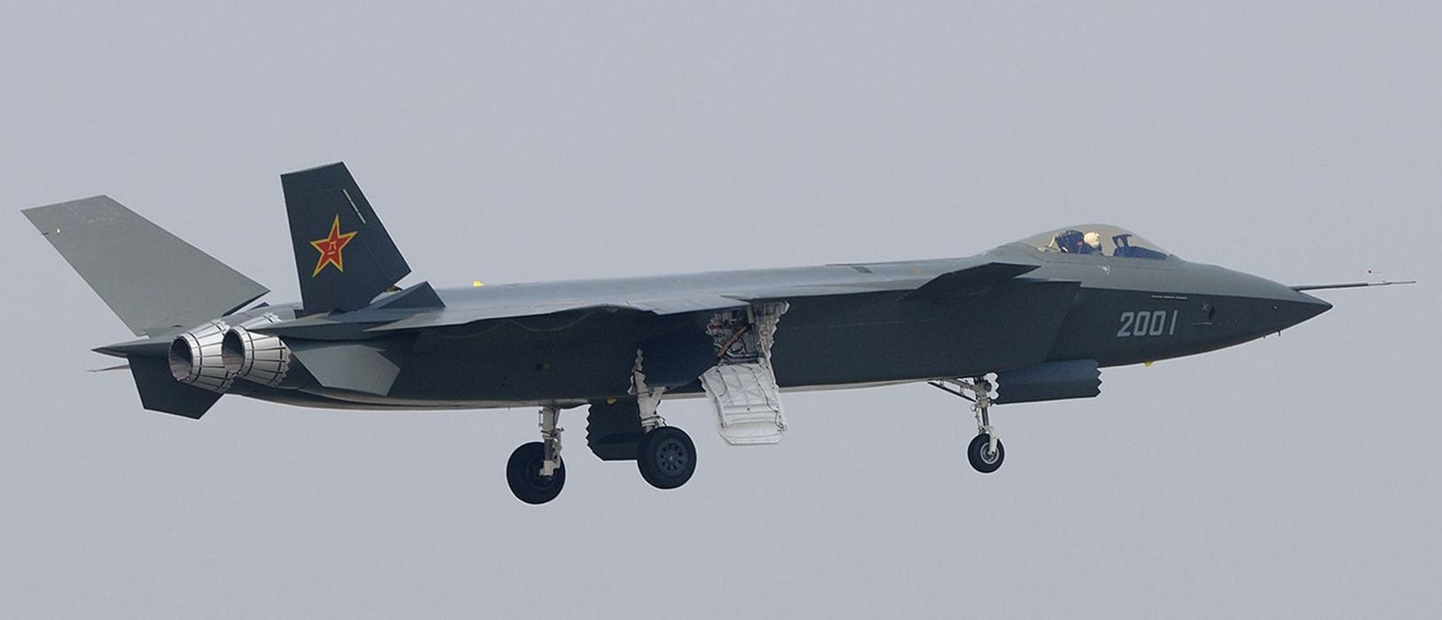 Chinese J-20 Mighty Dragon Fifth Generation Stealth Fighter Aircraft Chengdu Vehicle Military Chinese People's Liberation Army Air Force (PLAAF) (4) wallpaper