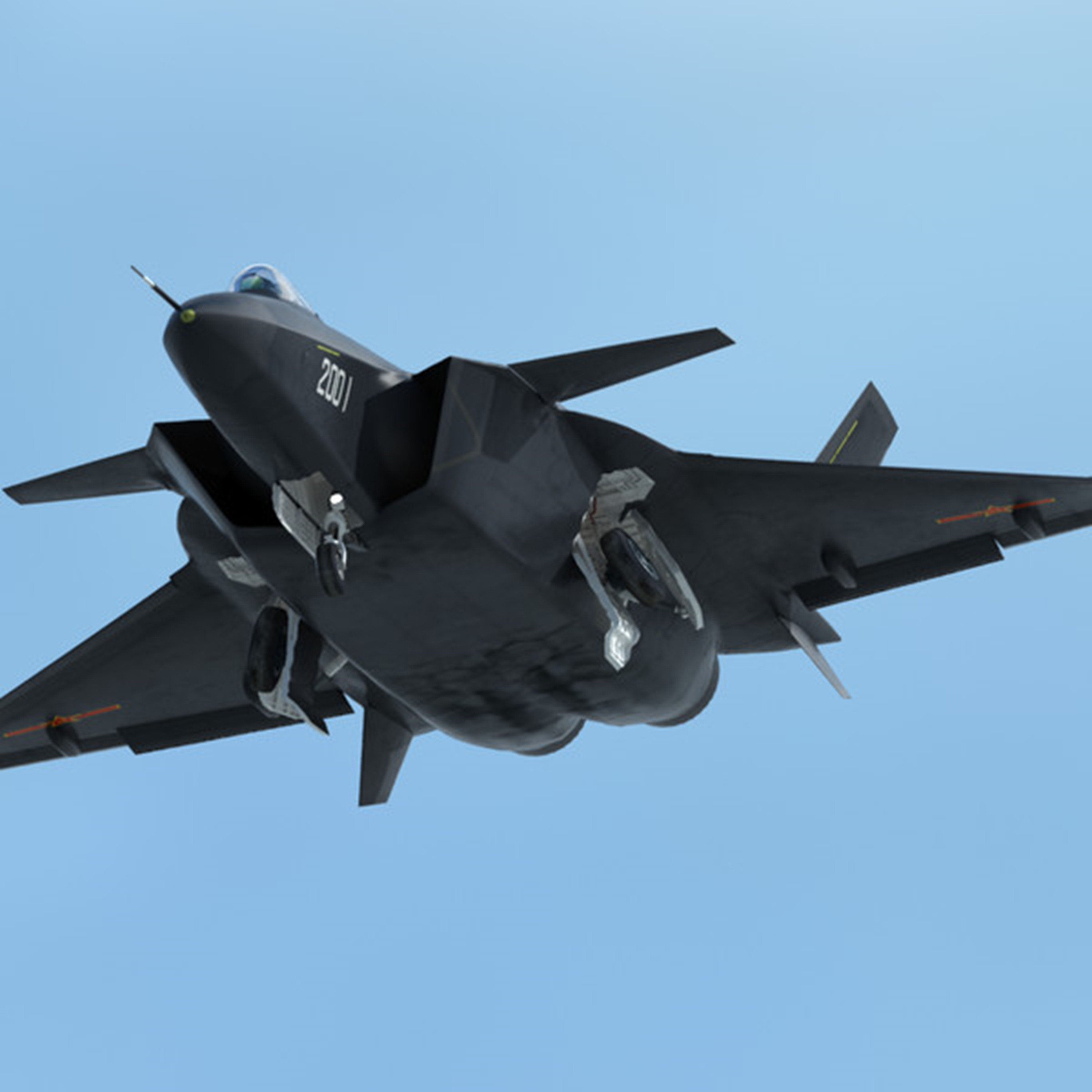 Chinese J-20 Mighty Dragon Fifth Generation Stealth ...