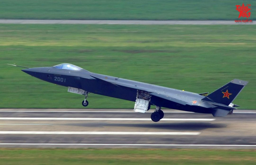 Chinese J-20 Mighty Dragon Fifth Generation Stealth Fighter Aircraft Chengdu Vehicle Military Chinese People's Liberation Army Air Force (PLAAF) (7) wallpaper