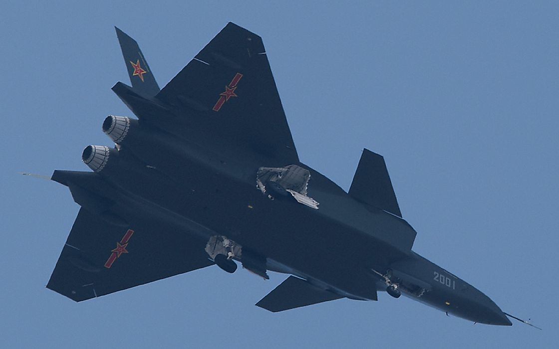 Chinese J-20 Mighty Dragon Fifth Generation Stealth Fighter Aircraft Chengdu Vehicle Military Chinese People's Liberation Army Air Force (PLAAF) (9) wallpaper