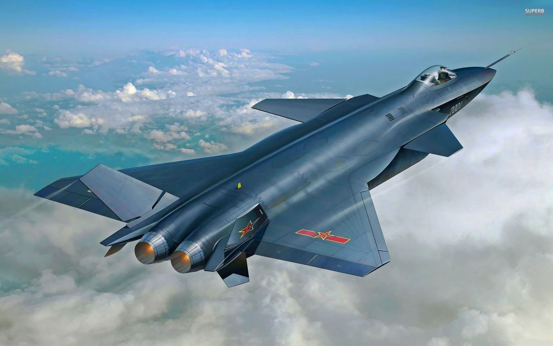 Chinese J-20 Mighty Dragon Fifth Generation Stealth Fighter Aircraft Chengdu Vehicle Military Chinese People's Liberation Army Air Force (PLAAF) (8) wallpaper
