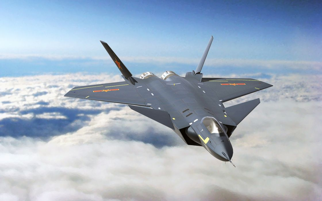 Chinese J-20 Mighty Dragon Fifth Generation Stealth Fighter Aircraft Chengdu Vehicle Military Chinese People's Liberation Army Air Force (PLAAF) (12) wallpaper
