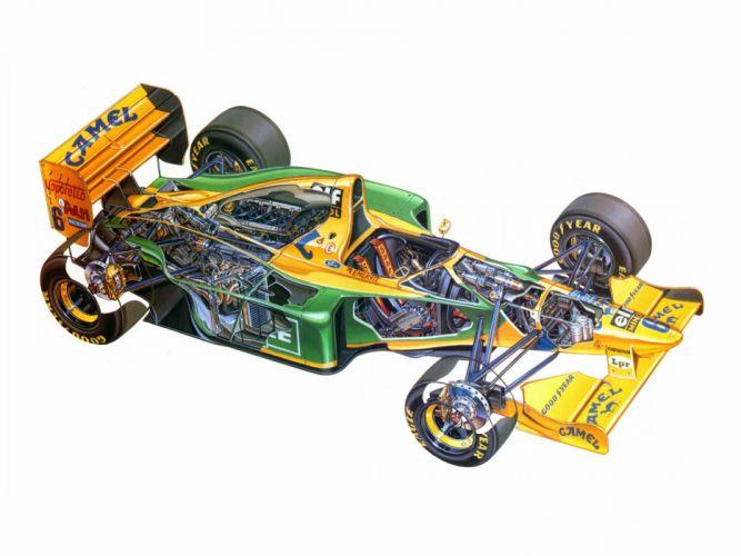 Benetton B193B 1993 Race Car Racing Vehicle Supercar Formula-1 4000x3000 (1) wallpaper