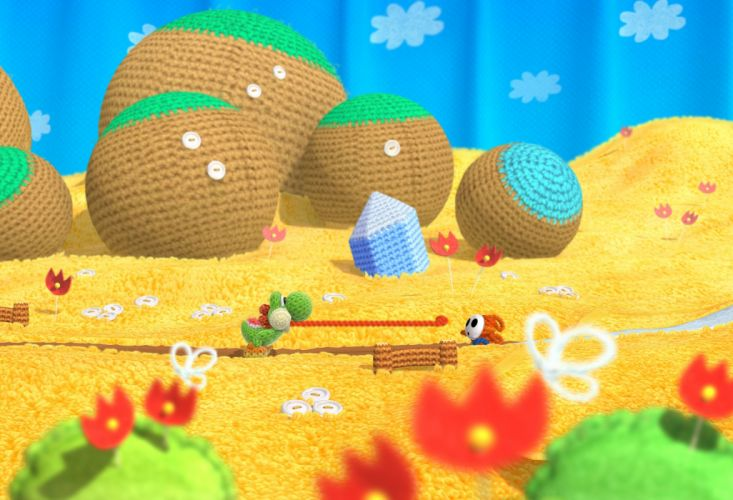 YOSHIS WOOLY WORLD family nintendo cartoon adventure online (12) wallpaper