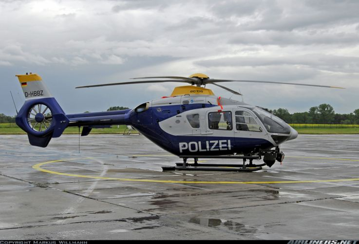 Helicopter Aircraft Vehicle Police Polizei Eurocopter EC135 Germany (1) wallpaper
