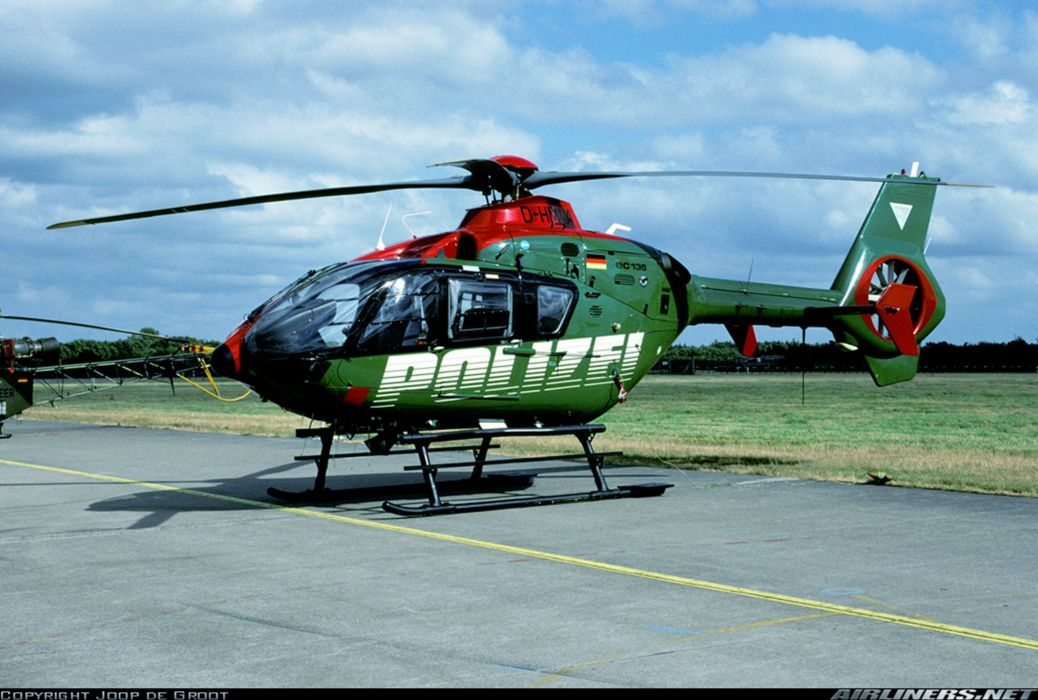 Helicopter Aircraft Vehicle Police Polizei Eurocopter EC135 Germany (2) wallpaper
