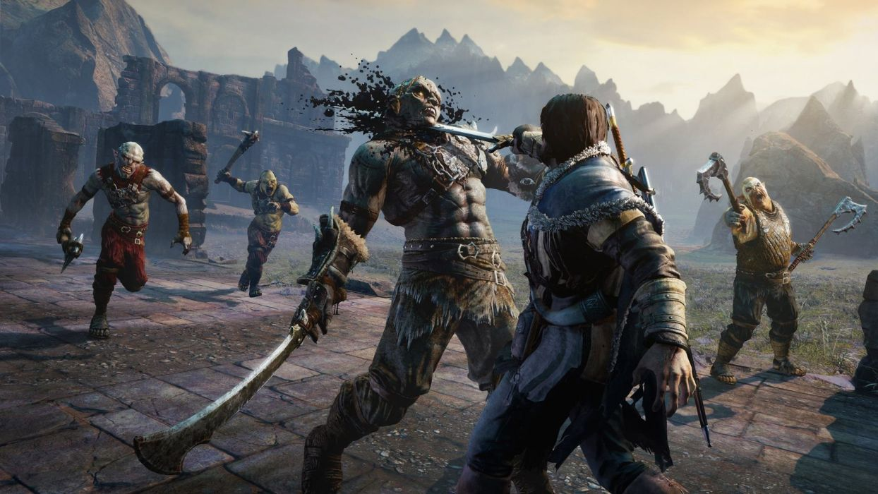 MIDDLE EARTH SHADOW MORDOR action adventure fantasy lotr lord rings warrior online (4) wallpaper