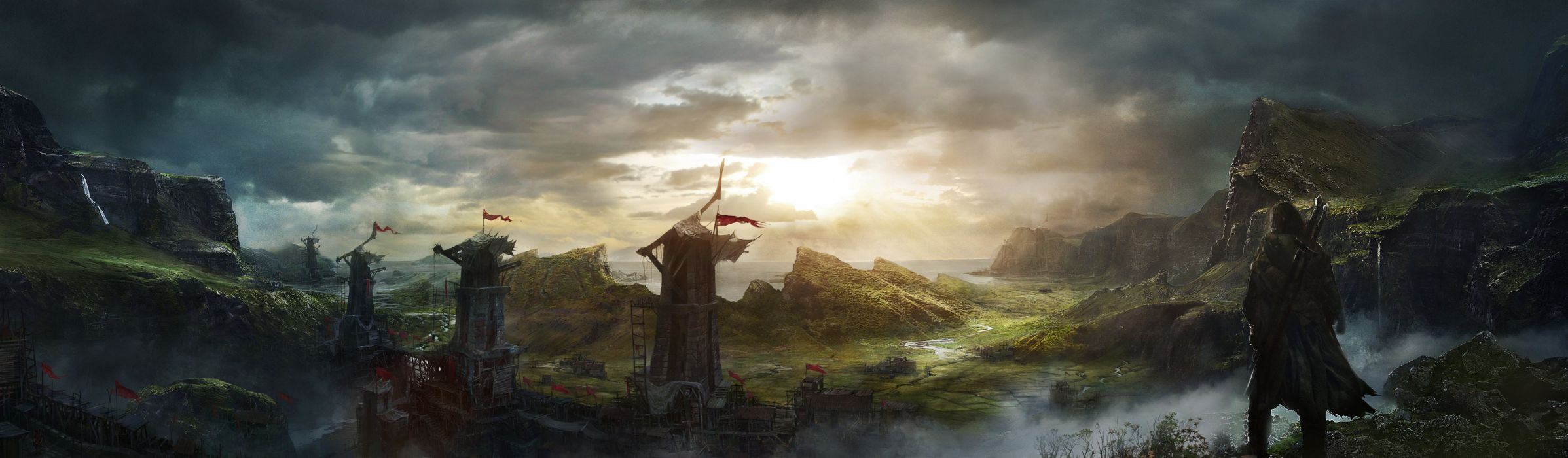 MIDDLE EARTH SHADOW MORDOR action adventure fantasy lotr lord rings warrior online (1) wallpaper