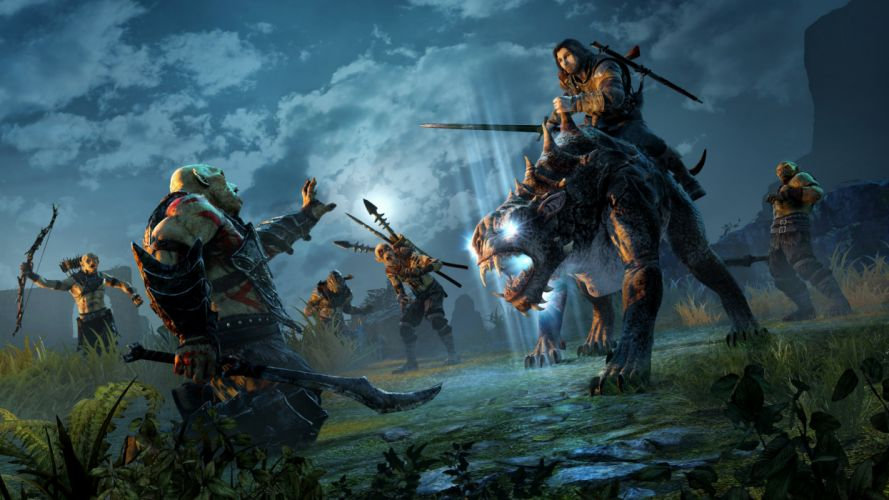 MIDDLE EARTH SHADOW MORDOR action adventure fantasy lotr lord rings warrior online (7) wallpaper