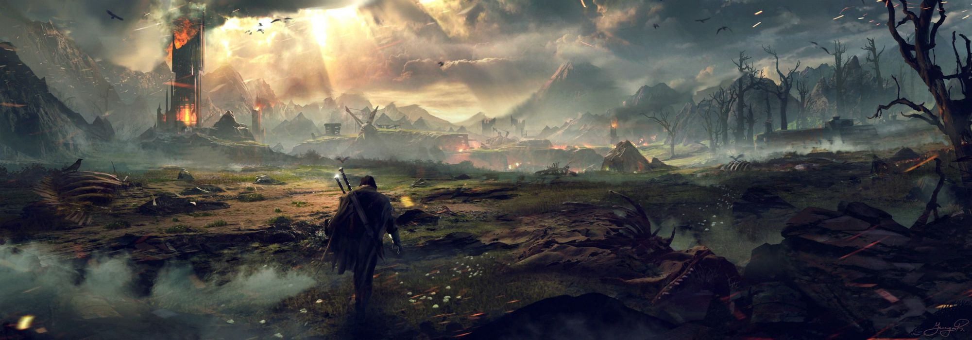 MIDDLE EARTH SHADOW MORDOR action adventure fantasy lotr lord rings warrior online (28) wallpaper
