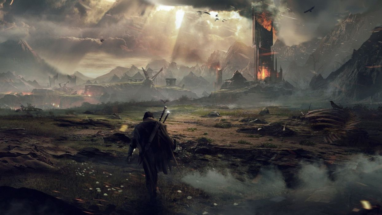 MIDDLE EARTH SHADOW MORDOR action adventure fantasy lotr lord rings warrior online (43) wallpaper