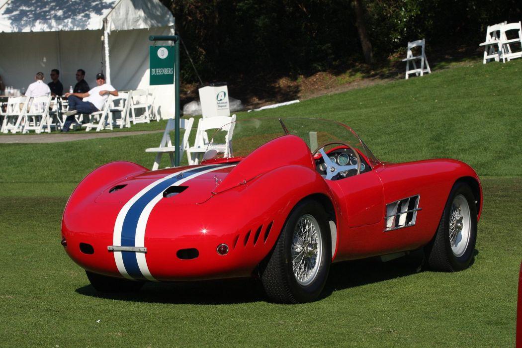 1956 Maserati 350S Car Race Red Racing Italy Vehicle Classic Retro Sport Supercar 1536x1024 (2) wallpaper