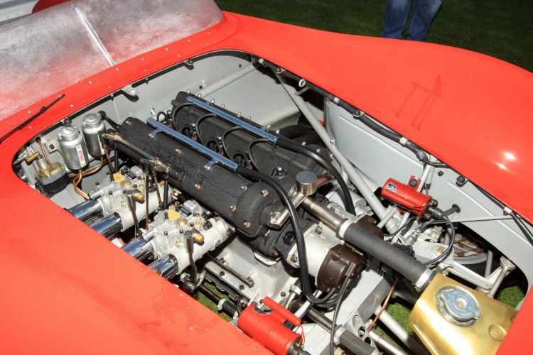 1957 Maserati 200SI Engine Car Vehicle Classic Retro Sport Supercar Race Red Italy Racing 1536x1024 (4) wallpaper