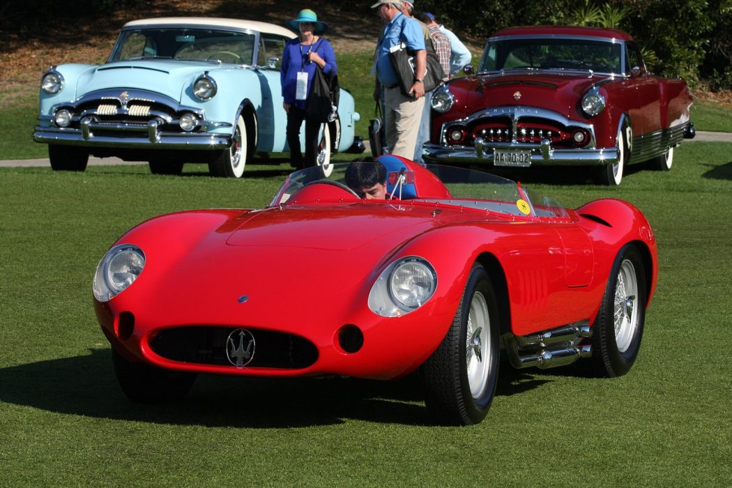 1957 Maserati 300S Race Red Italy Racing Car Vehicle Classic Retro Sport Supercar 1536x1024 (3) wallpaper