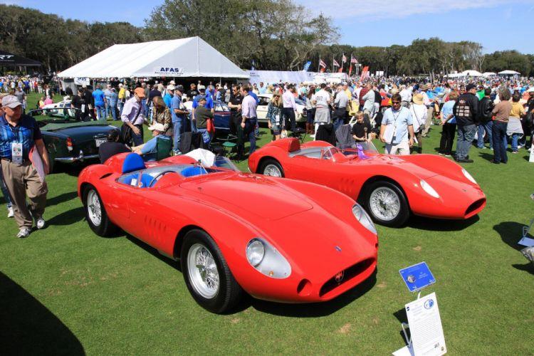 1957 Maserati 300S Race Red Italy Racing Car Vehicle Classic Retro Sport Supercar 1536x1024 (1) wallpaper