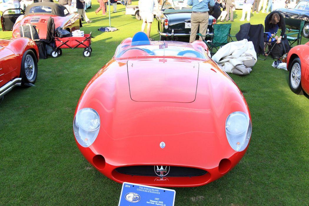 1957 Maserati 300S Race Red Italy Racing Car Vehicle Classic Retro Sport Supercar 1536x1024 (2) wallpaper