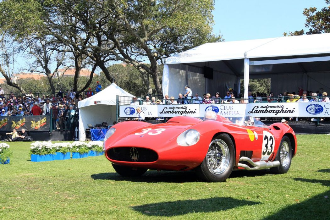 1957 Maserati 450S Race Red Italy Racing Car Vehicle Classic Retro Sport Supercar 1536x1024 (1) wallpaper