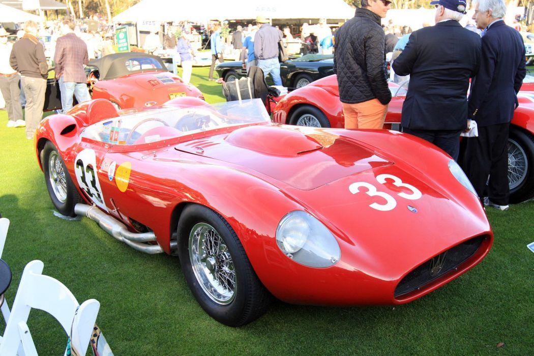 1957 Maserati 450S Race Red Italy Racing Car Vehicle Classic Retro Sport Supercar 1536x1024 (2) wallpaper