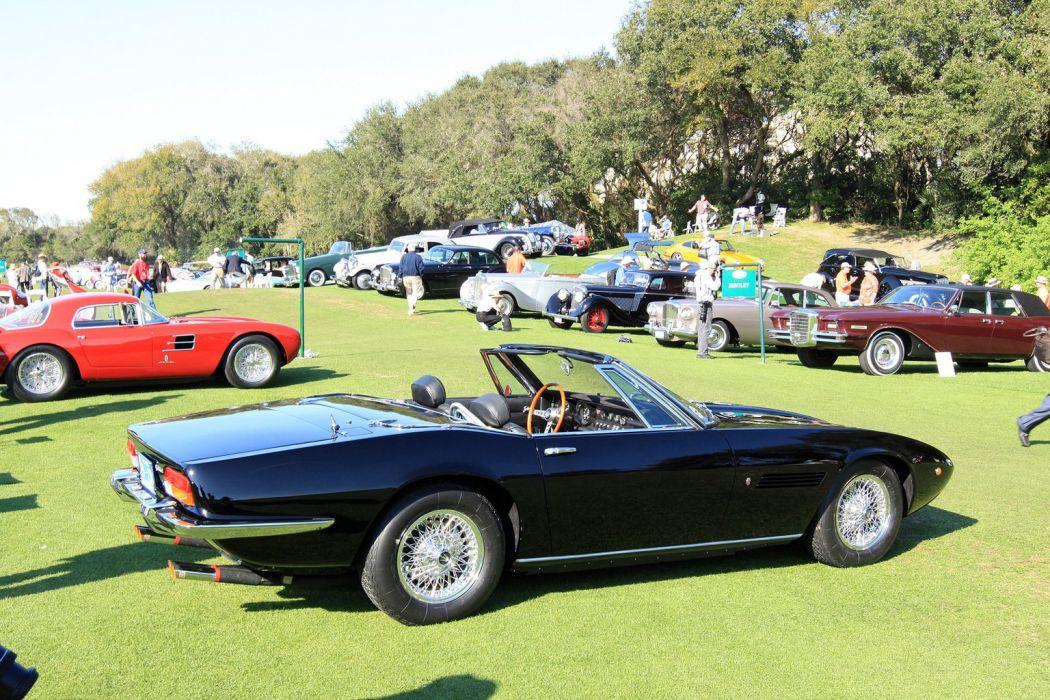 1970 Maserati Ghibli Spyder Car Vehicle Classic Retro Sport Supercar Italy Black 1536x1024 (2) wallpaper