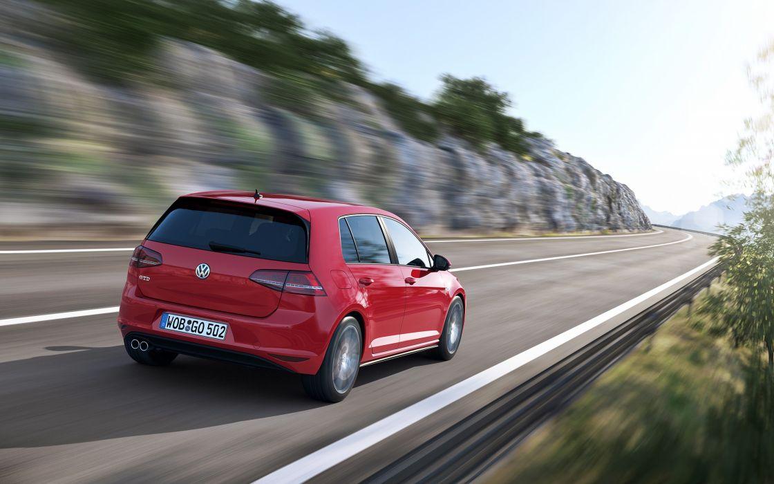 2014 Volkswagen Golf GTD Red Car Vehicle Germany 4000x2500 (1) wallpaper