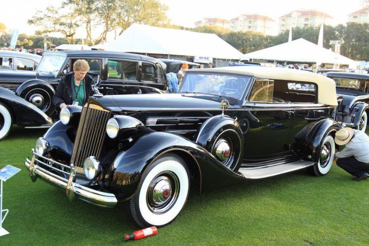 1937 Packard Convertible Sedan Car Vehicle Classic Retro Sport Supercar 1536x1024 wallpaper