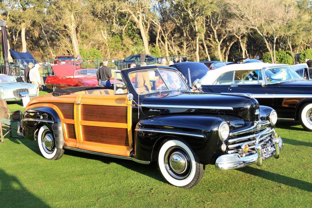 1947 Ford Sportsman Wood Car Vehicle Classic Retro Sport Supercar 1536x1024 wallpaper