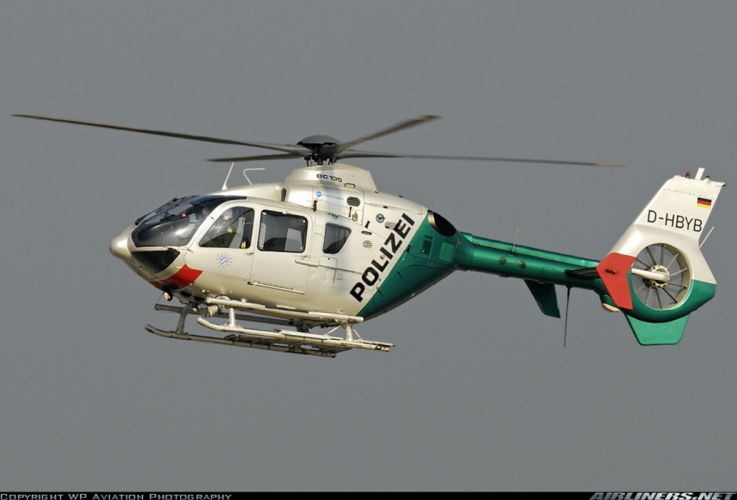 Helicopter Aircraft Vehicle Police Germany Polizei Eurocopter EC-135 (1) wallpaper