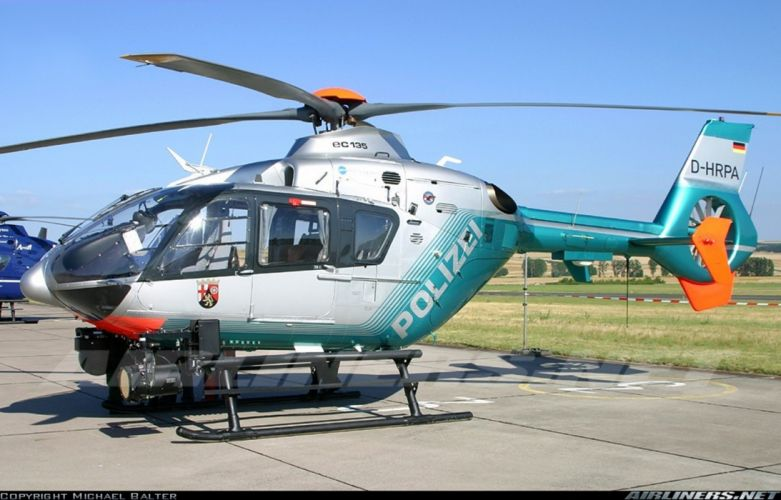 Helicopter Aircraft Vehicle Police Germany Polizei Eurocopter EC-135 (2) wallpaper