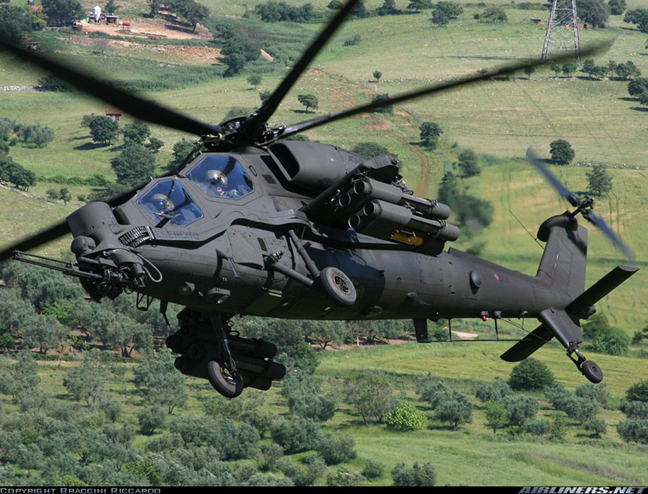 Helicopter Aircraft Vehicle Military Army Attack Agusta A129 Mangusta Italy (2) wallpaper