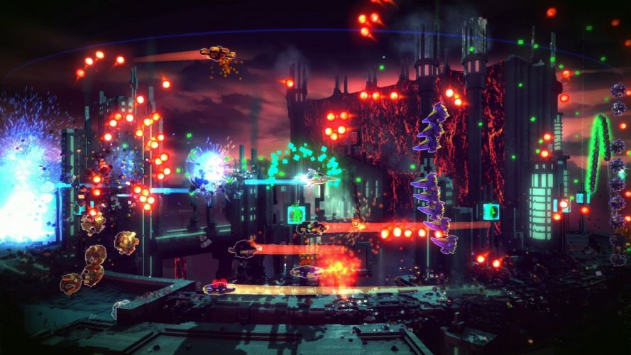 RESOGUN shooter action sci-fi battle psychedelic (3) wallpaper
