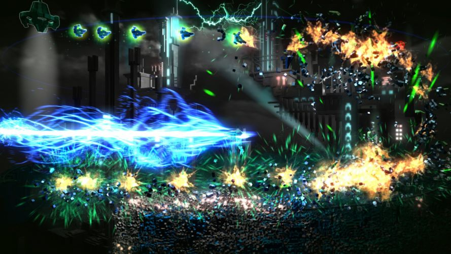 RESOGUN shooter action sci-fi battle psychedelic (2) wallpaper