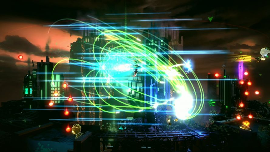RESOGUN shooter action sci-fi battle psychedelic (5) wallpaper