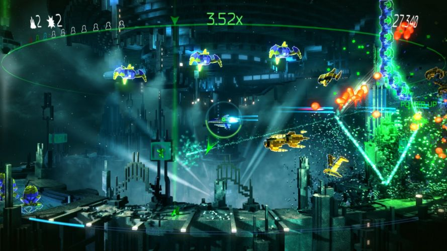 RESOGUN shooter action sci-fi battle psychedelic (11) wallpaper