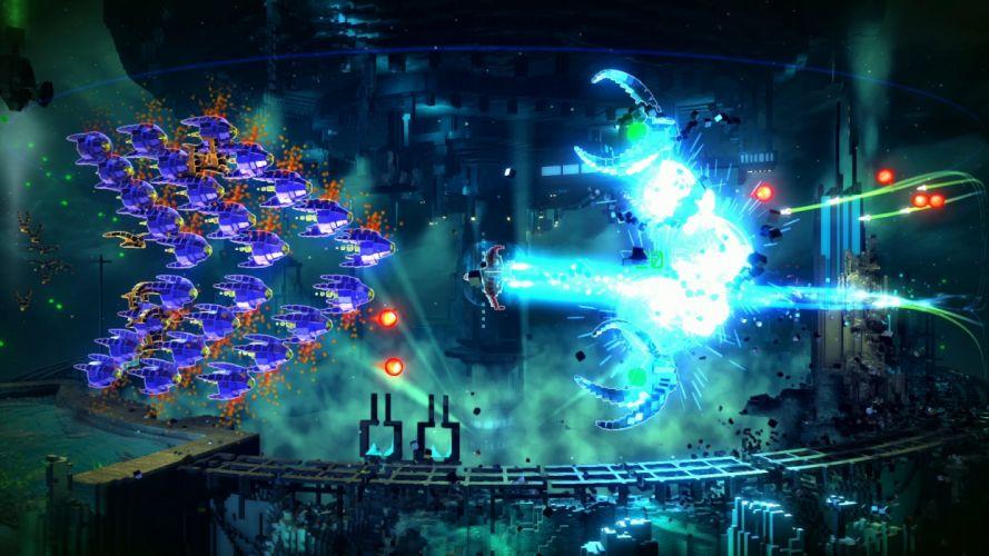 RESOGUN shooter action sci-fi battle psychedelic (12) wallpaper