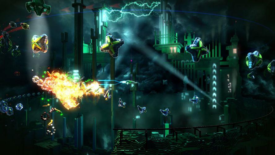 RESOGUN shooter action sci-fi battle psychedelic (14) wallpaper