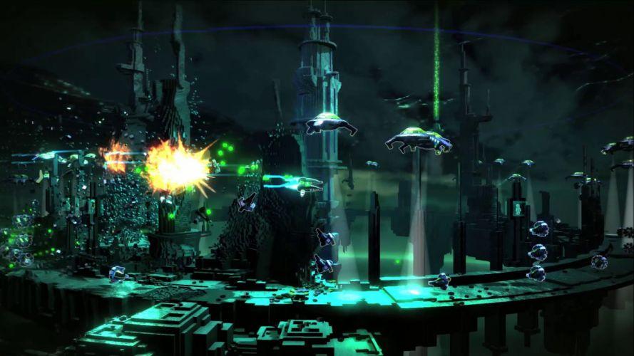 RESOGUN shooter action sci-fi battle psychedelic (15) wallpaper